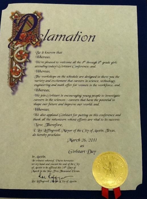 proclamation - Stem Certificate Template